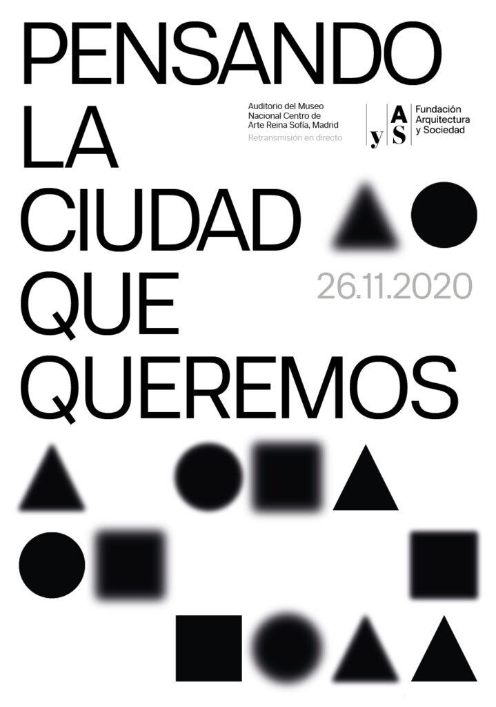 Cartel del encuentro Pensando la ciudad que queremos - Jueves 26 de noviembre